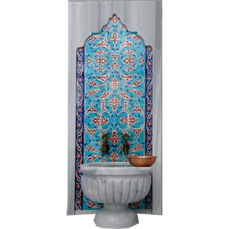 80x160 Klasik Rumi Desen Çinili Türk Hamamı