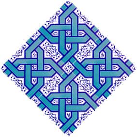 AC-6 Selcuklu Turquoise Chain Patterned Cini Tile, Kütahya tiles, iznik tile, Mosque tiles, Turkish bath, arabic mosque decoration, prices, examples