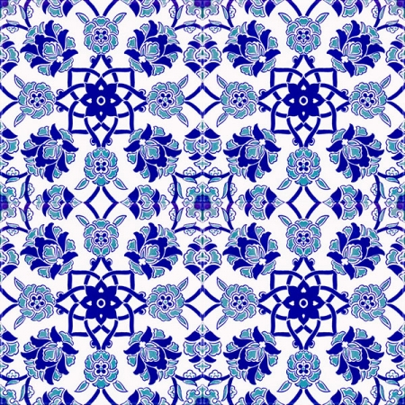 AC-10 Selcuk Blue Cicek Patterned Cini Tile, Kütahya tiles, iznik, Mosque tiles, Turkish bath, maroc, arabic mosque decoration, tiles, prices, samples