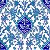 AC-42 Blue White Flower Pattern Ceramic Tile, Kütahya tiles, iznik, Mosque tiles, ceramic, Turkish bath, maroc, arabic interior tiles, prices, examples