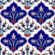 Kütahya tiles, iznik tile, Mosque tiles, Patterned ceramics, Porcelain tiles, Turkish baths, maroc, arabic tiles, AC-45 Tulips Patterned Cini Tiles prices, examples