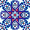 Kütahya tile, iznik tile, Mosque tiles, Patterned ceramic porcelain tiles, Turkish bath, maroc, arabic tiles, Selcuk Yıldızı Geometric Cini Tile prices samples