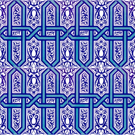 AC-9 Selcuklu Blue Chain Patterned Cini Karo, Kütahya tiles, iznik, Mosque tiles, Turkish bath, maroc, arabic mosque decoration, tiles, prices, samples