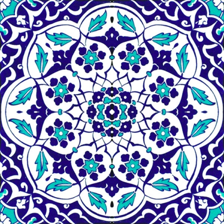 Kütahya china, iznik china, Mosque tiles, Patterned ceramics, Porcelain tiles, Turkish bath, maroc, arabic tiles, 20x20 AC-92 Ottoman Blue White Cini Tile prices, samples