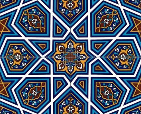 20x20 SP-48 Kahverengi Turkmen Yıldızı Cini Karo Pano Kütahya ve İznik çinileri cami otel türk hamamı banyo mutfak seramik dekorasyon örnekleri