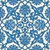 20x20 SP-83-M Mavi Beyaz Rumi Desenli Cini Karo Pano Kütahya ve İznik çinileri cami otel türk hamamı banyo mutfak seramik dekorasyon örnekleri