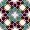 20x20 SP-99 V Tunus Desenli Geometrik Cini Karo Pano Kütahya ve İznik çinileri cami otel türk hamamı banyo mutfak seramik dekorasyon örnekleri interior