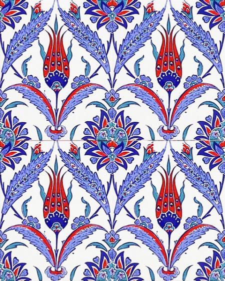 AC-1002 Red Laleli Tile Ceramic Tile, Kütahya tile, Mosque tiles, Turkish bath, arabic mosque, Bathroom, hotel decoration, prices, decoration samples