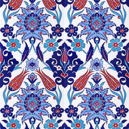 AC-1004 Iznik Tulip Pattern Cini Karo, Kütahya tiles, Mosque tiles, Turkish bath, arabic mosque, Bathroom, hotel decoration, prices, decoration examples
