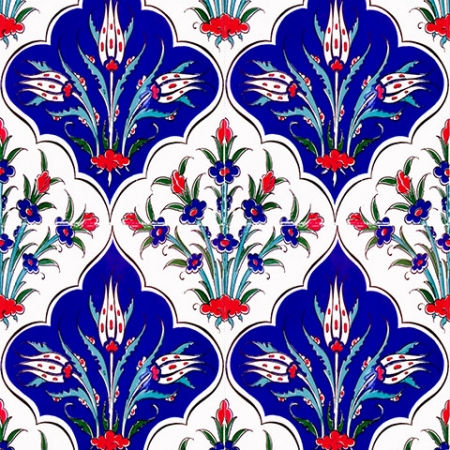 AC-1045 Iznik Laleli Cini Karo, Kütahya tiles, Mosque tiles, Turkish bath, arabic mosque, Bathroom decoration, prices, examples