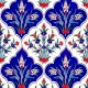 AC-1045 Iznik Laleli Cini Karo, Kütahya tiles, Mosque tiles, Turkish bath, arabic mosque, Bathroom decoration, prices, examples