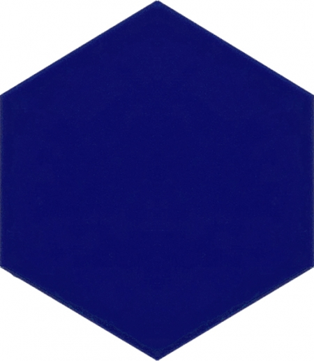 AL-14 Cobalt Hexagonal Ceramic Tile, Turkish bath, mosque, Bathroom hotel decoration, prices hexagon tile decorations, example