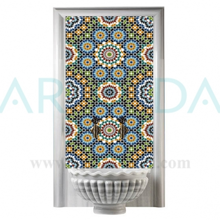 60x100 Maroc Desen Geometrik Türk Hamamı Çini pano