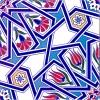 20x20 Cm Ac 17 Geometrik Desenli Çini Seramik Karo
