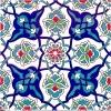 20x20 Cm AC 27 Kütahya Çini Rumi Desenli İznik Çini Karo