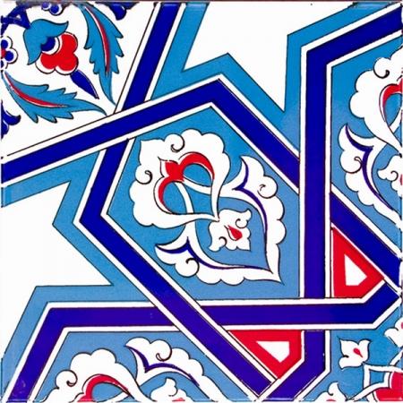 20x20 Ac-72 Selçuk Yıldızı Geometrik Çini Karo