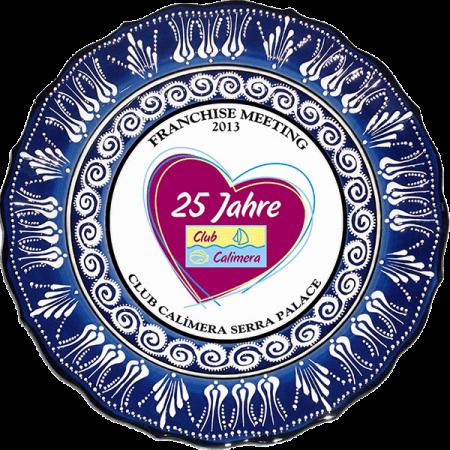 30 cm Mavi Beyaz Lale Desen Kabartma Çini Tabak