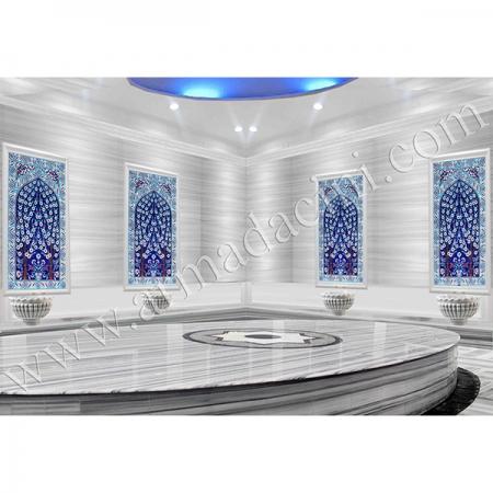 60x100 622 Hayat Ağacı Kobalt Türk Hamamı