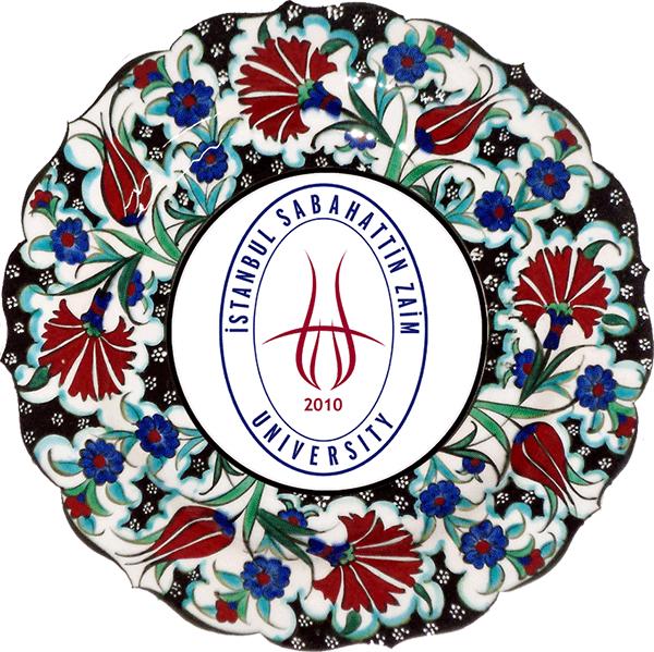 25 cm Karanfil Desenli Samur Çini Tabak