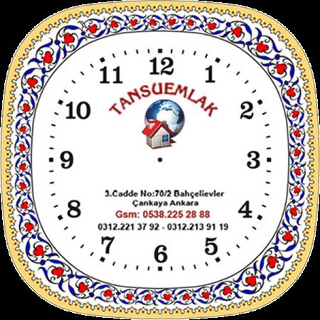 25 cm Porselen Saat 1 Altın Promosyon Saat Kurumsal Hediyelik Özel Günler İçin Anneler Babalar Sevgililer Doğum Günü Hatıra