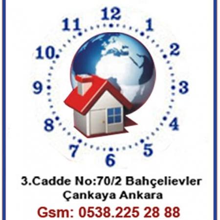 20x25 Logo Baskılı resimli çini Seramik Saat-1 (Beyaz)