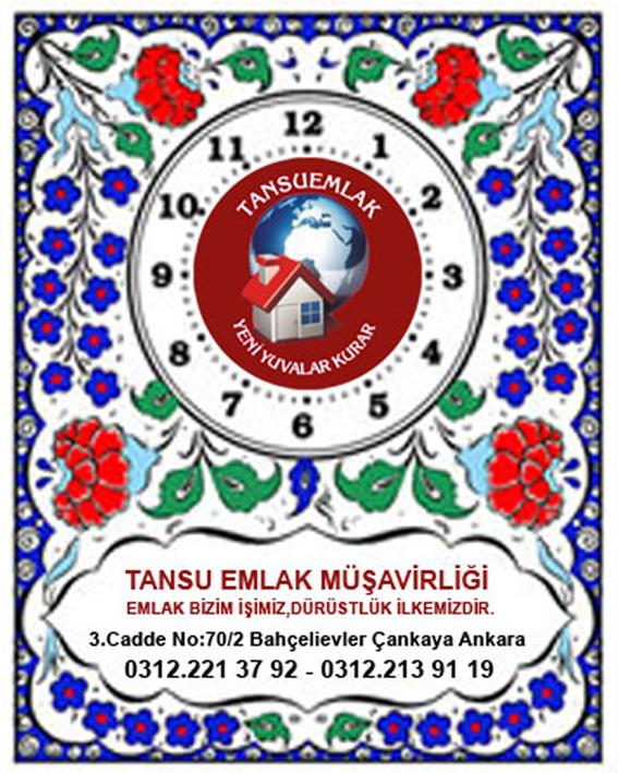 20x25 Logo Baskılı resimli çini Seramik Saat-2 (Karanfil)