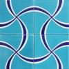 20x20 SP-95 Turkuaz Kobalt Papyon Desen Çini Pano