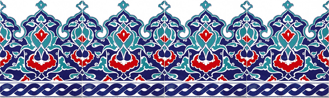 20x25 Crown 302 İznik Tile Ceramic Tile, Kütahya tiles, Mosque tiles, Turkish bath, arabic mosque, Bathroom decoration, prices, samples