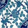 20x20 Cm Ac 42 Mavi Beyaz Çiçekli Desen İznik Çini Karo