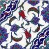 20x20 Cm Ac 44 Osmanlı Desen Kütahya Çini Karo