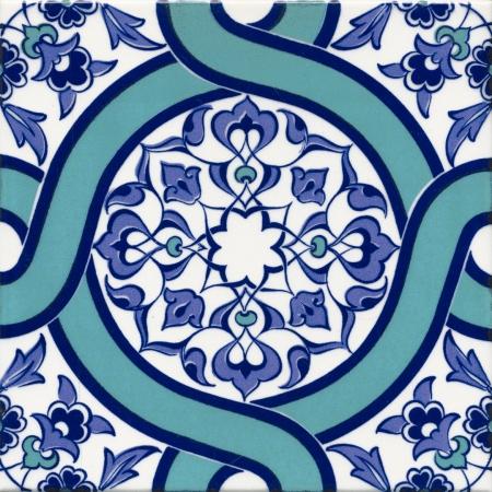 20x20 Ac 52 Geometrik Desenli Çini Karo