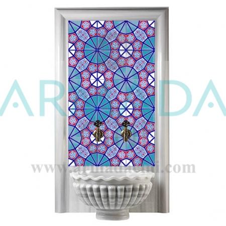 AC 3 Geometrik Desenli Türk Hamamı Çini dekorasyonu