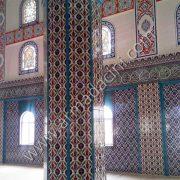 Desenli Cami Sekizgen Kolon çini Dizaynı