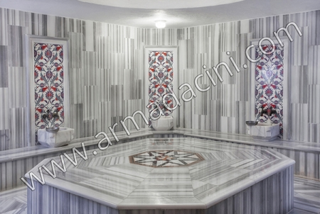 AC-313 Tulip Patterned Kutahya Tile Ceramic Tile, Tile, Mosque tiles, Turkish bath, arabic mosque, bathroom, hotel decoration, prices, decoration examples
