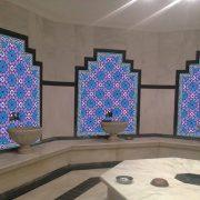 AC-3 Geometrik Kırmızı Mavi Desen Cini Karo, Kütahya çinisi, iznik çini, Cami çinileri, Türk hamamı, arabic mosque, Banyo dekorasyon, fiyatları, örnekleri
