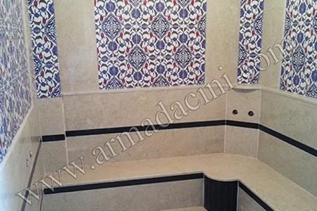 AC-44 Otel Türk Hamamı Çini Duvar Dekorları