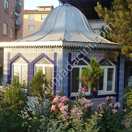Koşeli Osmanlı Cini Desenli Cami Sadırvanları