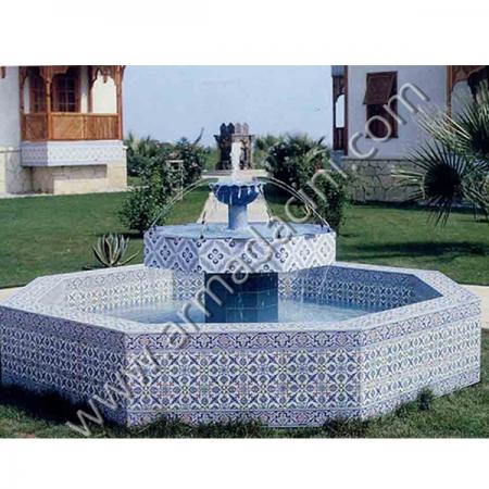 Seramik Cini Desenli Otel Sus Şadırvan Havuzu