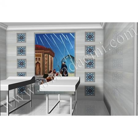 Otel Spa Masaj Odası El isi Cını Hasekı Sultan Kütahya ve iznik çinileri türk hamamı çini pano seramik dekorasyon hand made interior tile
