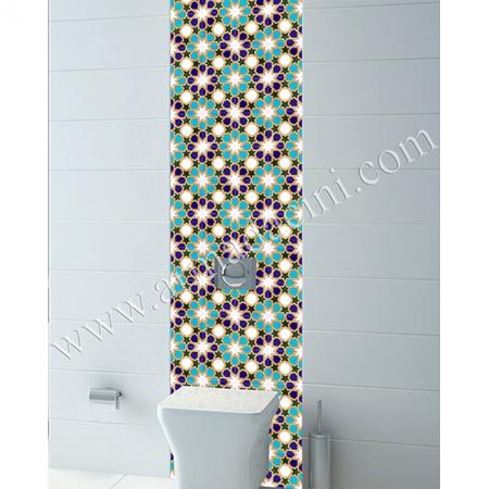 TuvaleT Klozet Arkası Kütahy Çini Çalışması Kütahya ve iznik çinileri türk hamamı çini pano seramik dekorasyon hand made interior tile