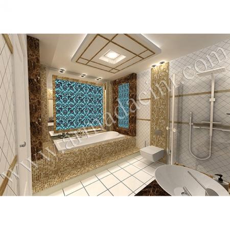 Otel Özel Banyo SP-83-C Çini Karo Rumi-Turkuaz-K.rengi Kütahya ve iznik çinileri türk hamamı çini pano seramik dekorasyon hand made interior tile