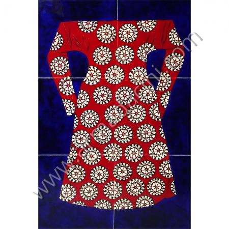 40x60 Osmanlı Kaftanları Kırmızı Cicekli El Dekoru Cini Kütahya ve iznik çinileri el yapımı çini karo klasik türk çini sanatı desenleri osmanlı motifleri türk hamamı çini pano banyo mutfak çiniler seramik dekorasyon hand made interior ceramic tiles decoration turkısh bath bathroom çini fiyatları satıcıları fabrikalar