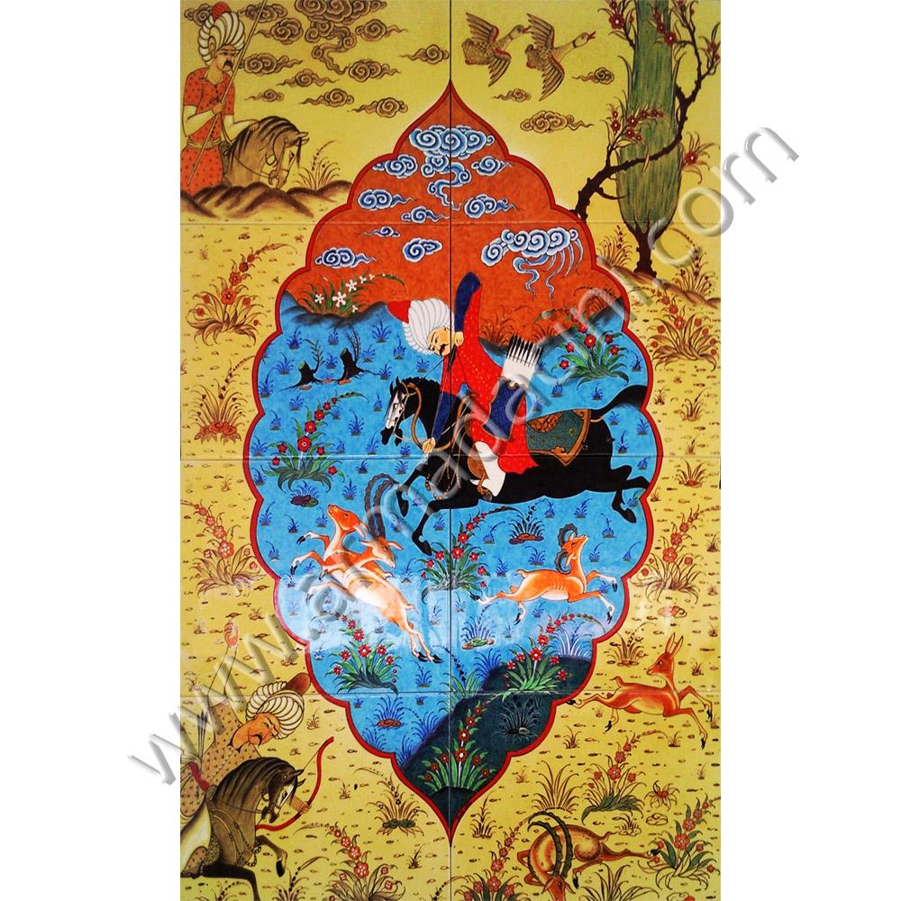 60 215 100 Damla Osmanlı Minyat 252 R Handmade Ceramic Panels