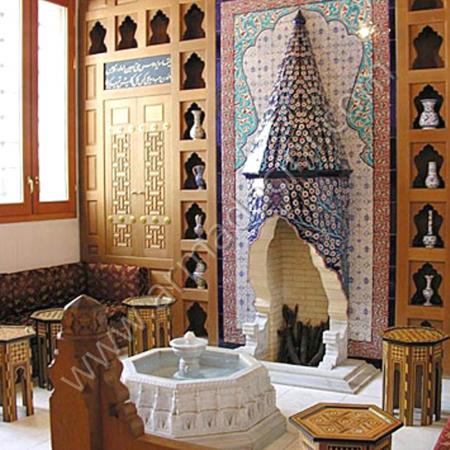 Eldekoru Cini Somine Villa Dekorasyonu Çalışması Kütahya ve iznik çinileri el yapımı çini karo çini pano çiniler seramik dekorasyon hand made interior tiles