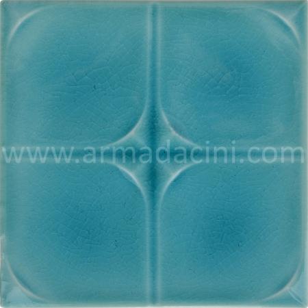 13x13 PR-210 Turkuaz Rolyefli Porselen Cini Karo, Kütahya porselen seramik iznik çini banyo mutfak tezgah otel türk hamamı dekorasyon örnekleri, fiyatları