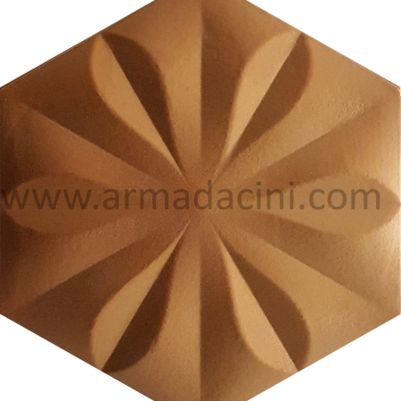 Golden Floral Hexagonal Ceramic Tile, Kutahya ceramic, Mosque ceramics, Turkish bath, mosque, Bathroom hotel decoration, prices of hexagon tile decoration examples