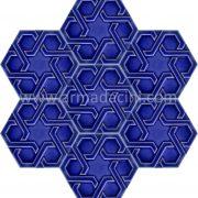 Kobalt Rolyefli Porselen Altıgen Cini, Kutahya çinisi, Cami çinileri, Türk hamamı, mosque, Banyo otel dekorasyon, fiyatları hexagon tile decoration örnekler