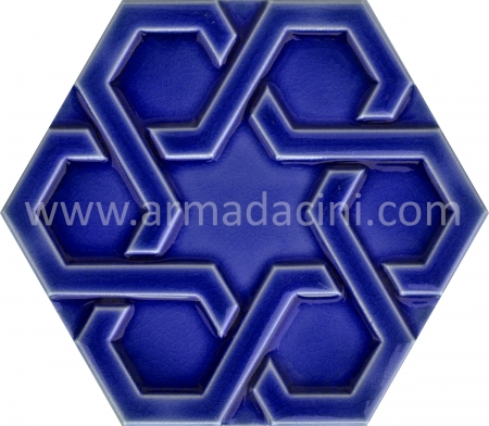 Cobalt Relief Porcelain Hexagonal Ceramic, Kutahya Pottery, Turkish Ceramic, Mosque tiles, Turkish bath, mosque, Bathroom hotel decoration, prices hexagon tile decoration examples
