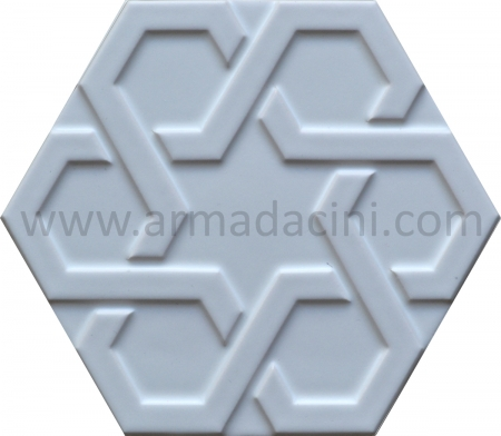 White Relief Porcelain Hexagonal Ceramic Tile, Kütahya ceramic, Mosque ceramics, Turkish bath, mosque, Bathroom hotel decoration, prices hexagon tile decoration sample