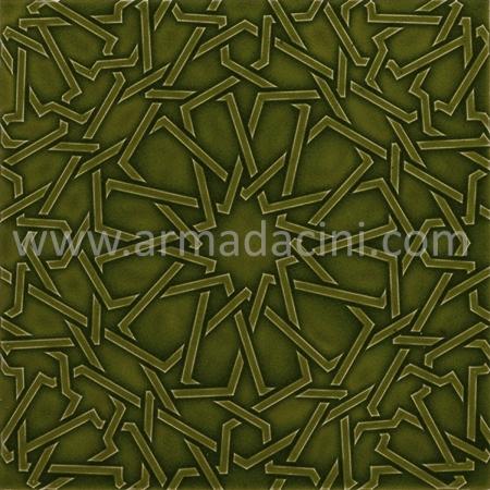 25x25 PR-375 Zeytin Rolyeflı Porselen Cını Karo, Kütahya porselen seramik iznik çini banyo mutfak tezgah otel türk hamamı dekorasyon örnekleri, fiyatları